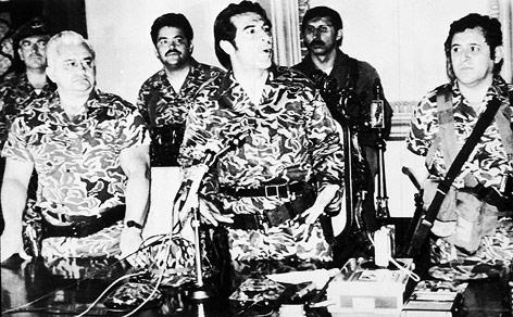 Archivaufnahme von  Guatemalas Ex-Diktator Efrain Rios Montt aus dem Jahr 1982