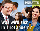 Spitzenkandidat und LH Günther Platter (ÖVP) und Spitzenkandidatin Ingrid Felipe (Grüne)
