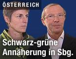 ÖVP-Chef Haslauer und die grüne Parteichefin Rössler