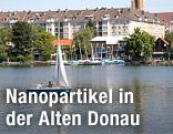 Alte Donau mit Segelboot