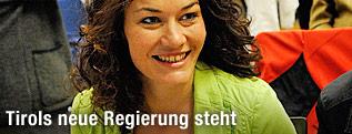Die Landessprecherin der Tiroler Grünen,  Ingrid Felipe