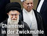 Irans Oberster Geistlicher Führer Ayatollah Ali Khamenei und der Ex-Staatschef Akbar Hashemi Rafsandschani
