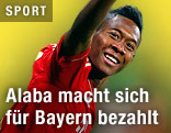 Jubel von David Alaba