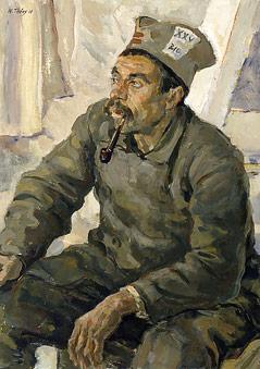 Porträt eines serbischen Kriegsgefangenen, 1915