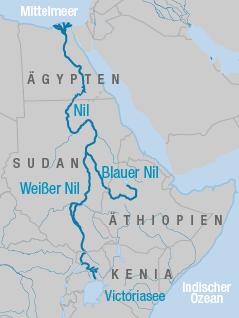 Karte ägypten Nil.äthiopien Startet Umstrittenes Nil Projekt News Orf At