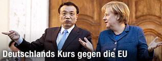 Li Keqiang mit Angela Merkel