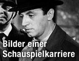 """Szene mit Joachim Fuchsberger, NIP und Eddi Arent aus dem Wallace-Film """"Die Bande des Schreckens"""""""