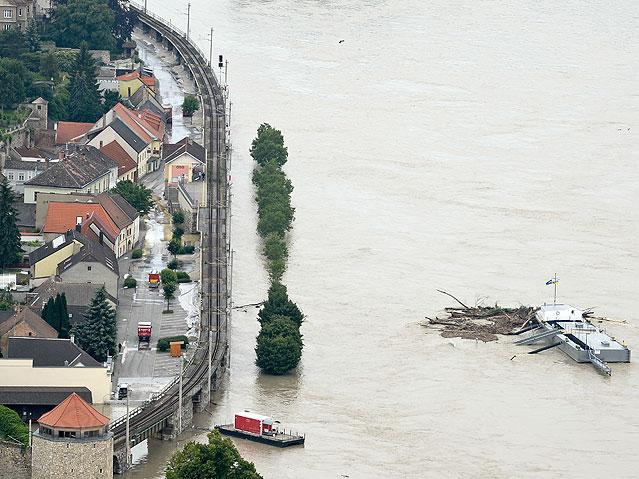 Hochwasserschutzmaßnahmen in Hainburg