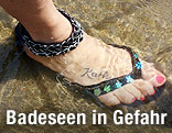 Fuß in Wasser