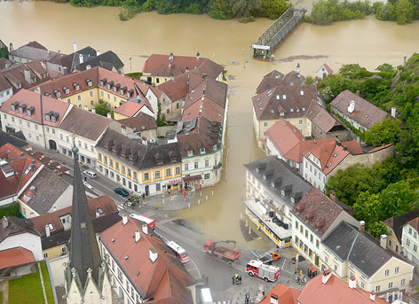 Überschwemmungen in Melk