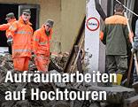 Aufräumarbeiten in Hüttau