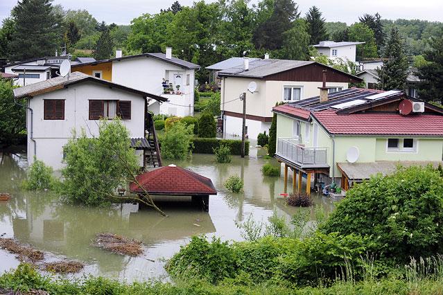 Hochwasser in Greifenstein-Altenberg