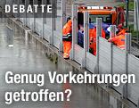 Hochwasser-Sicherungsmaßnahmen in Linz