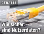Netzwerkkabel über Tastatur