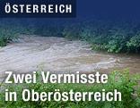 Hochwasser führender Fluss