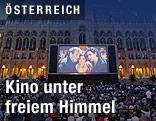 Filmvorführung auf dem Rathausplatz, Wien