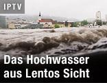 Donauhochwasser aus der Lentos-Sicht