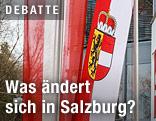 Fahne des Bundeslands Salzburg