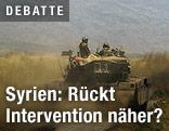 Panzer an Granze zu Syrien