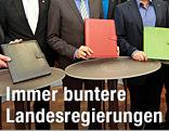 Mappen der Regierungsmitglieder in Kärnten