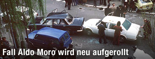 Tatort der Entführung von Aldo Moro