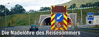 Baustelen bei Tunnel der Semmeringschnellstraße