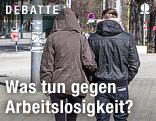 Junges Paar auf der Straße