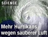 Satellitenbild eines Hurrikans