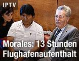 Boliviens Präsident Evo Morales und Österreichs Präsident Heinz Fischer