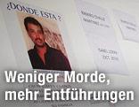 Zettel an der Wand zeigt Vermissten