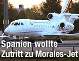 Privatmaschine von Präsident Morales