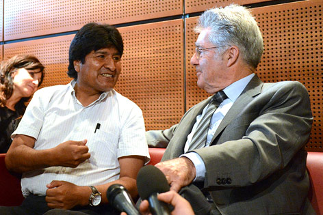 Evo Morales und Heinz Fischer