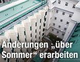 Innenhof der Justizanstalt Josefstadt in Wien