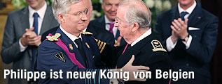 Kronprinz Philippe und König Albert von Belgien