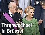 Belgisches Königspaar Albert und Paolo