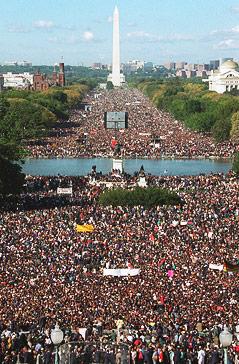 Menschenmassen beim Million-Men-March in Waschington 1995