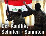 Schiitische Milizsoldaten