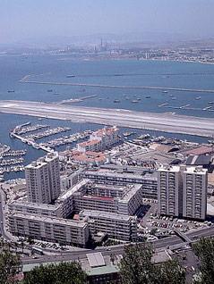 Flughafen bei Gibraltar
