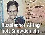 Edward Snowdens neuer russischer Reisepass mit Foto