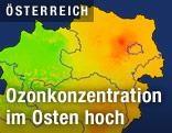 Grafik zeigt Ozonbelastung in Ostösterreich