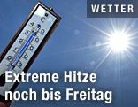 Sonne und Thermometer
