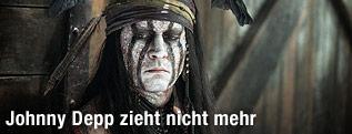 "Johnny Depp als Tonto im Film ""Lone Ranger"""