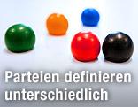 Brettspielsteine in verschiedenen Farben