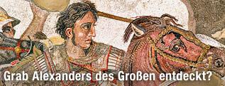 Mosaik von Alexander dem Großen