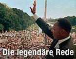 Archivaufnahme aus 1963 zeigt Martin Luther King bei seiner Rede in Washington