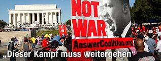 Menschenansammlung vor dem Lincoln Memorial in Washington