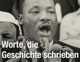 Martin Luther King bei seiner Rede