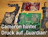 "Zerstörte Festplatte des ""Guardian"""