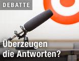 Mikrofon vor dem ORF.at-Logo