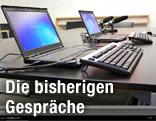 Laptops auf Tisch